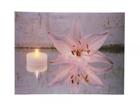 LED pilt Candle & Lily 30x40 cm ED-118523
