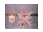 LED pilt Candle & Lily 50x70 cm ED-118524