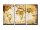 Kolmeosaline seinapilt World map 120x80 cm ED-119299