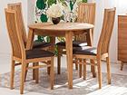 Tammepuust pikendatav söögilaud Basel 90-130x90 cm+ 4 tooli Sandra EC-119699