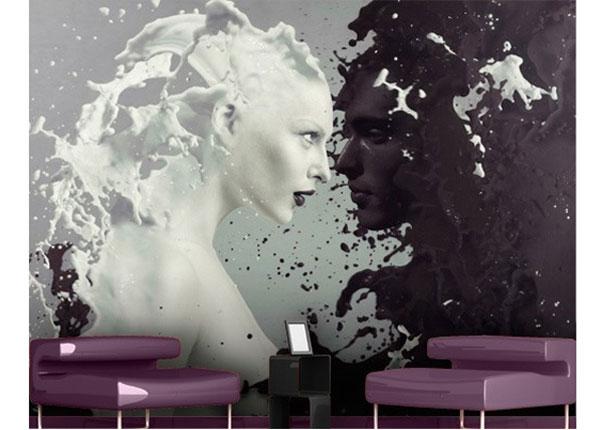 Isekleepuv tapeet Milk & Coffee 270x360 cm ED-122894