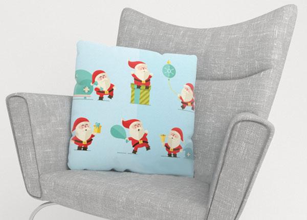 Dekoratiivpadjapüür Happy Santas 40x40 cm ED-123873