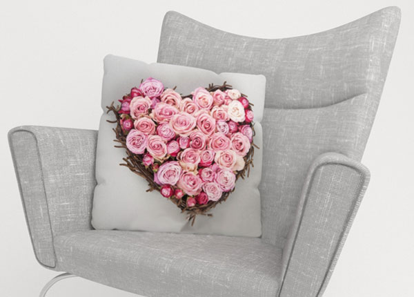 Dekoratiivpadjapüür Heart of Love 50x50 cm ED-123880