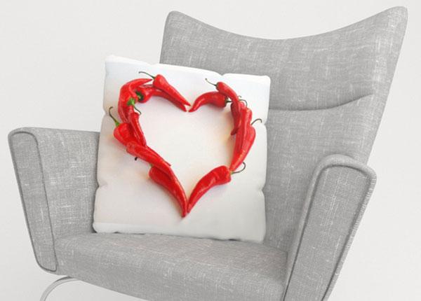Dekoratiivpadjapüür Hot Heart 40x40 cm ED-123967