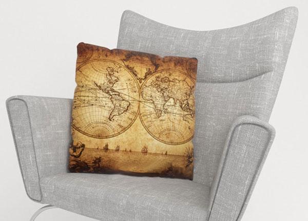 Dekoratiivpadjapüür Old Map 45x45 cm ED-124007