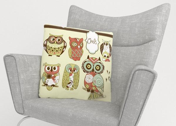 Dekoratiivpadjapüür Owl 2 45x45 cm ED-124015