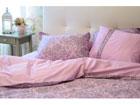 6-osaline puuvillasatiinist voodipesukomplekt Helelilla puudutus 200x210 cm VO-124035