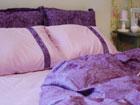 6-osaline puuvillasatiinist voodipesukomplekt Majesteetlik lilla 200x210 cm VO-124040