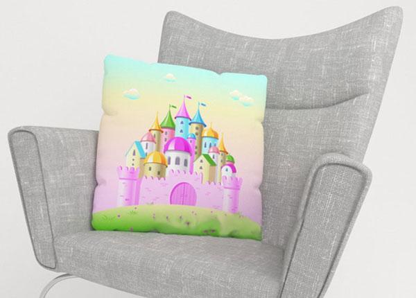 Dekoratiivpadjapüür Pink Castle 45x45 cm ED-124203