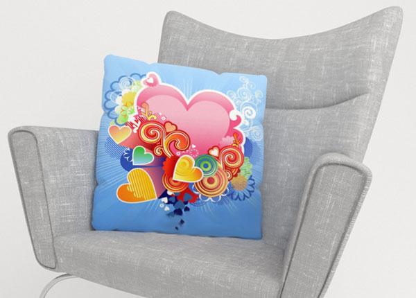 Dekoratiivpadjapüür Pink Heart 45x45 cm ED-124213