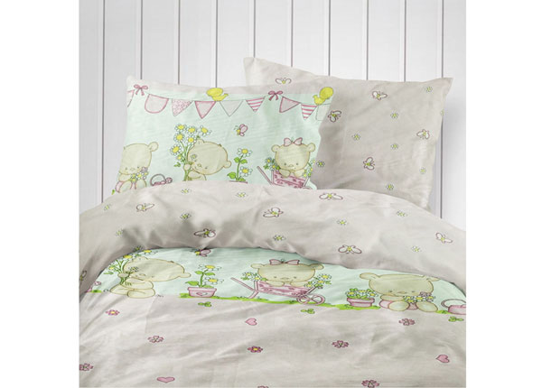 Laste voodipesukomplekt Pink Bear 110x140 cm VO-124218