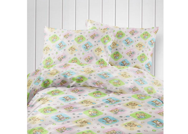 Laste voodipesukomplekt Little Bear 110x140 cm VO-124220