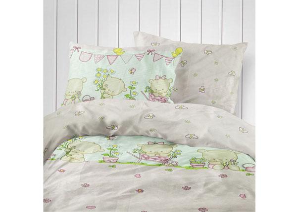 Laste voodipesukomplekt Pink Bear 100x120 cm