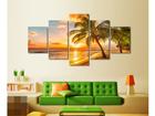 Viieosaline seinapilt Palm Beach 110x60 cm ED-124287