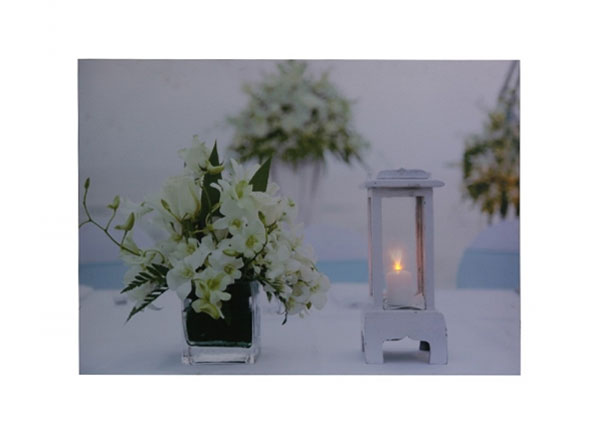 LED pilt Flowers & Lantern