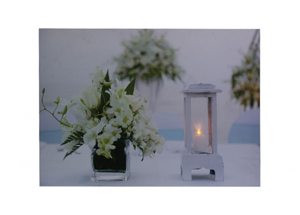 LED pilt Flowers & Lantern