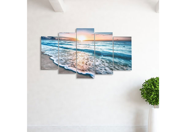 Viieosaline seinapilt Holiday Paradise 100x60 cm ED-124470