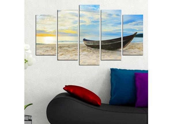 Viieosaline seinapilt Boat II 100x60 cm ED-124471