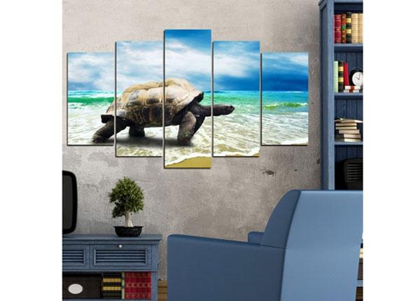Viieosaline seinapilt Turtle 100x60 cm ED-124472