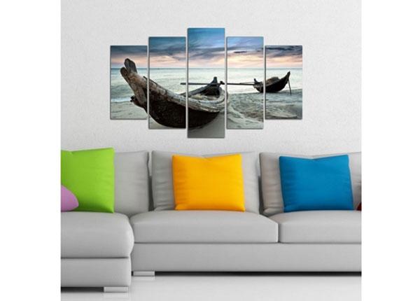 Viieosaline seinapilt Boat 4, 100x60 cm ED-124739