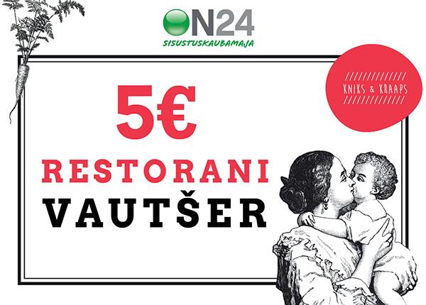 Kniks&Kraaps restorani vautšer 5 € ON-124891