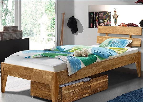 Tammepuidust voodi Elke 90x200 cm EC-125604