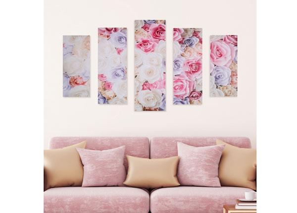 Viieosaline seinapilt Rose Petals 160x60 cm ED-125685