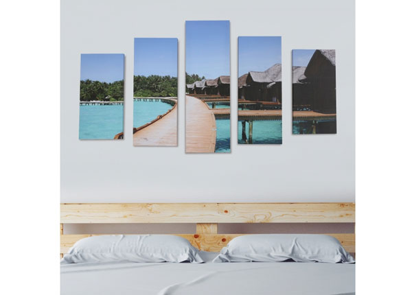 Viieosaline seinapilt Holiday Resort 160x60 cm ED-125691