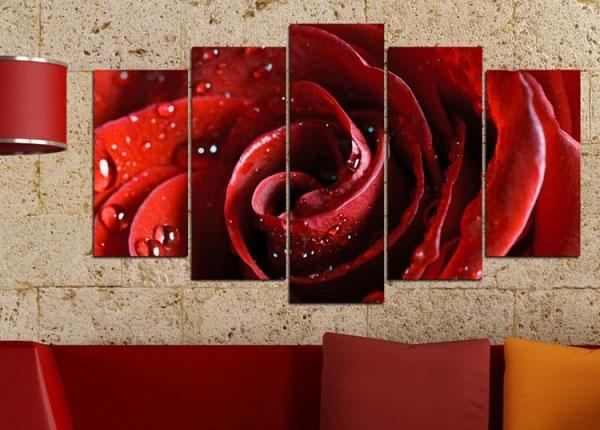 Viieosaline seinapilt Rose Motif 100x60 cm ED-125835