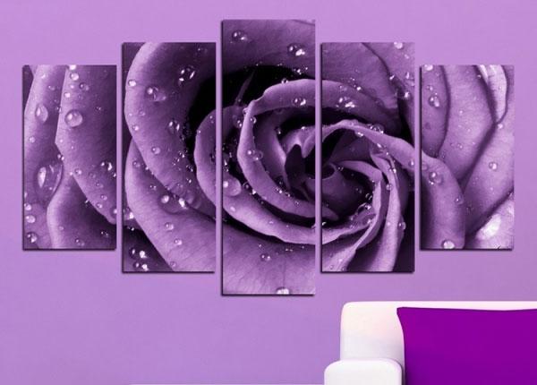 Viieosaline seinapilt Rose Motif 100x60 cm ED-125836