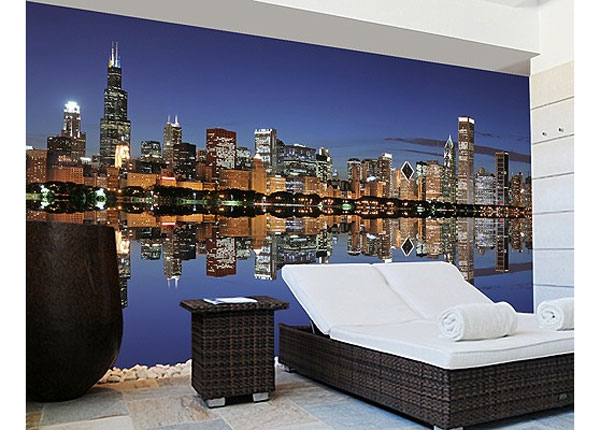 Isekleepuv fototapeet Chicago Reflection 270x360 cm ED-125961