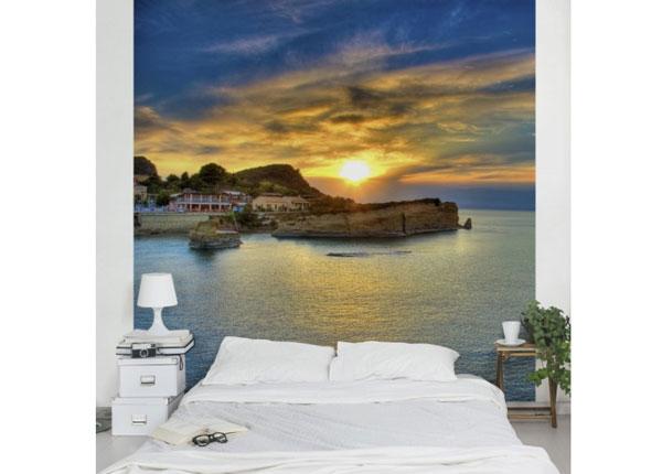 Fliis-fototapeet Sunset over Corfu 240x240 cm ED-125962