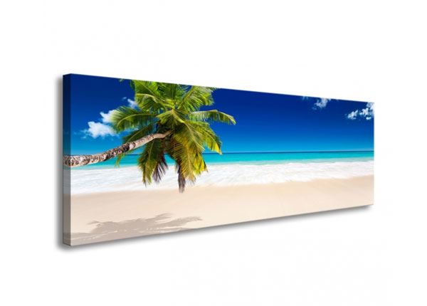Seinapilt Tropical beach with palm tree 120x40 cm ED-126287