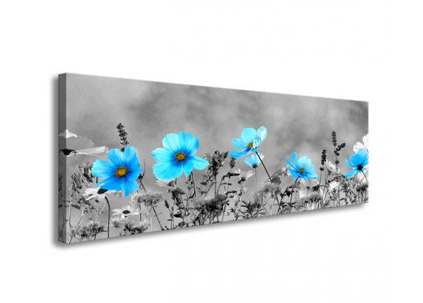 Seinapilt Blue flowers 120x40 cm ED-126288