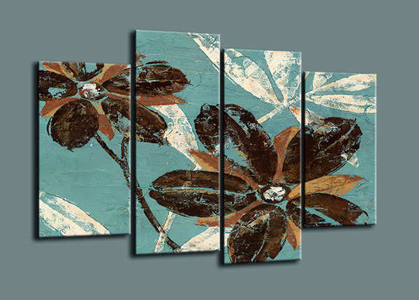 Neljaosaline seinapilt Flowers 130x80 cm ED-126292
