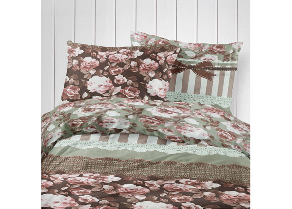 Puuvillasatiinist voodipesukomplekt 150x210 cm
