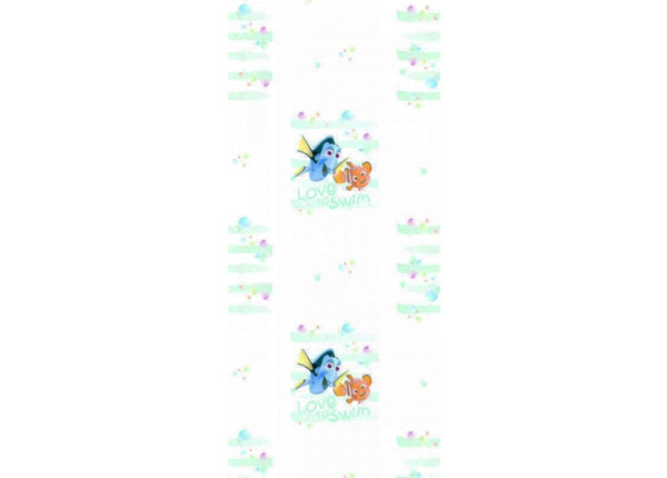 Fliistapeet Dory and Nemo Love to Swim, White 53x1000 cm ED-128012