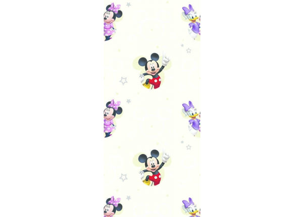 Fliistapeet Mickey Mouse and Girls, Beige 53x1000 cm ED-128048