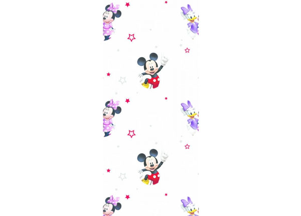 Fliistapeet Mickey Mouse and Girls, White 53x1000 cm ED-128049