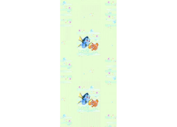 Fliistapeet Dory and Nemo Love to Swim, Light Green 53x1000 cm ED-128055