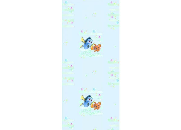 Fliistapeet Dory and Nemo Love to Swim, Light Blue 53x1000 cm ED-128056