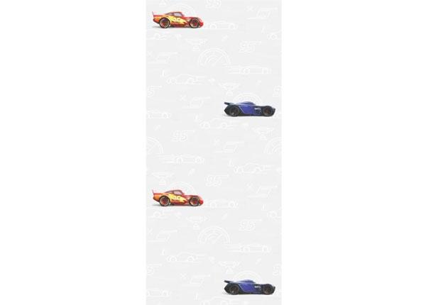 Fliistapeet Cars 3 Silhouette, White 53x1000 cm ED-128081