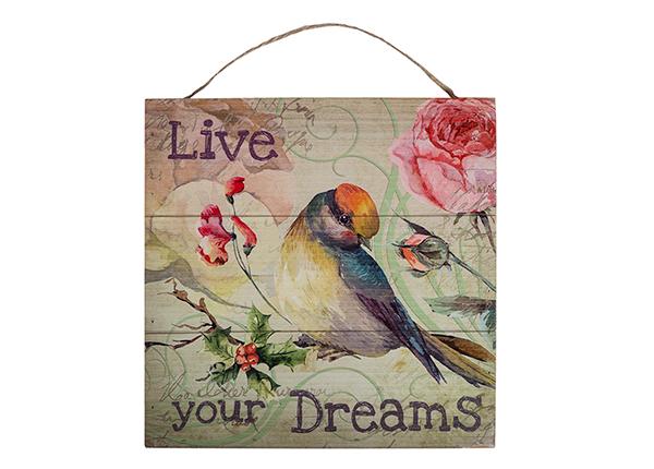 Puitpilt Live your dreams 30x30 cm EV-128191