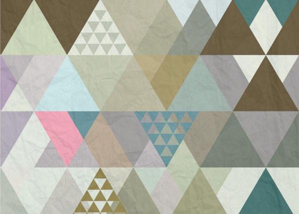 Fliis-fototapeet Triangles 360x270 cm ED-128205