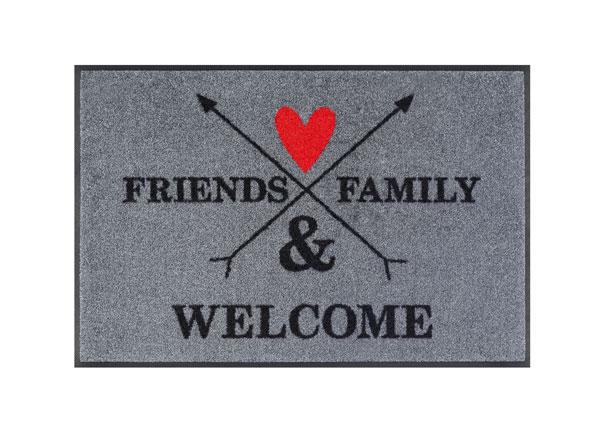 Uksematt Family & Friends 50x75 cm A5-128241