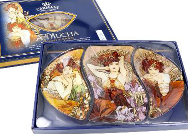Desserttaldrikute komplekt A.Mucha MO-128724