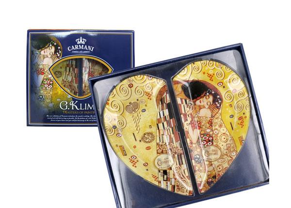 Südamekujuline taldrikute komplekt G. Klimt MO-128727