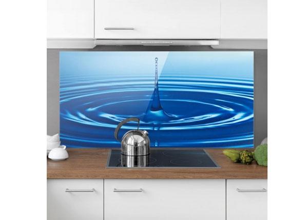Fotoklaas, köögi tagasein Drop With Waves 40x60 cm