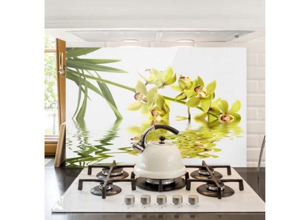 Fotoklaas, köögi tagasein Elegant Orchid Waters 40x60 cm