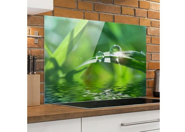 Fotoklaas, köögi tagasein Green Ambiance II, 40x60 cm